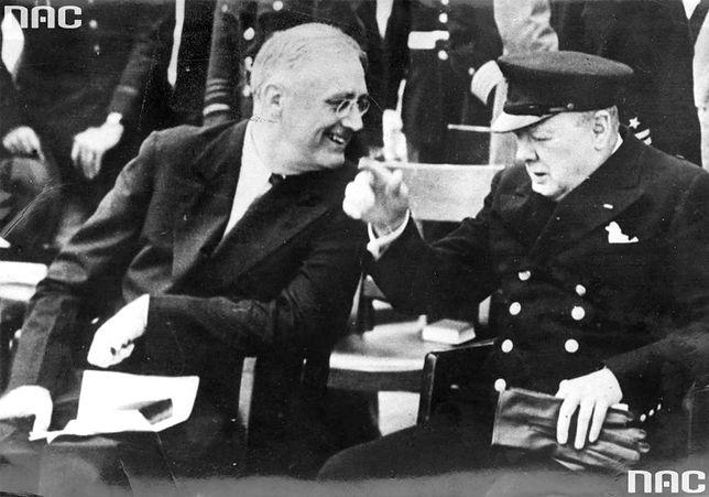 Spotkanie premiera Wielkiej Brytanii Winstona Churchilla z prezydentem USA Franklinem Delano Rooseveltem