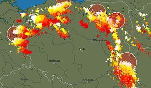 Po południu strefa burz obejmowała środkową i południowo-wschodnią część kraju