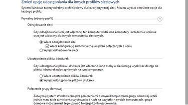 Zmiana profilu sieciowego w Windows 10 Pro