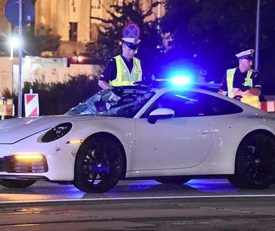 Warszawa. Kierowca porsche aresztowany. Policja ustaliła, kto zginął pod kołami