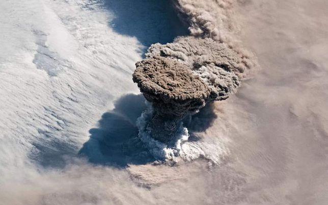 Rosja. Wybuch Rajkokie był widoczny z Międzynarodowej Stacji Kosmicznej
