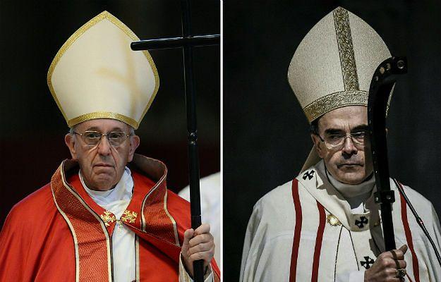 Papież Franciszek i kardynał Philippe Barbarin