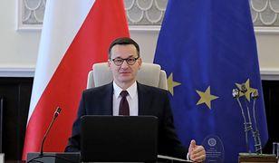 Premier Mateusz Morawiecki na posiedzeniu rządu.