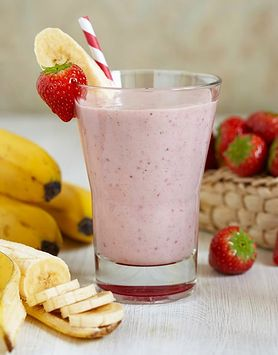 Milkshake bananowo-truskawkowo-kukurydziany