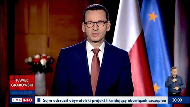 """Premier Mateusz Morawiecki zaapelował, by prowadzić dialog, a nie """"dwa monologi"""""""