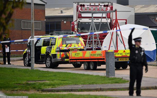 Wielka Brytania. Śmierć 39 osób, ciężarówkę z ciałami znaleziono w Essex