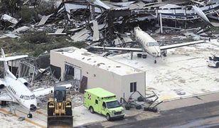 Zniszczony port lotniczy Princess Juliana na wyspie St. Martin.