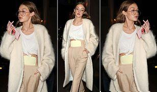 LOOK OF THE DAY: Gigi Hadid w beżowej stylizacji