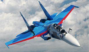 Myśliwiec Su-30 rozbił się pobliżu białoruskiej granicy