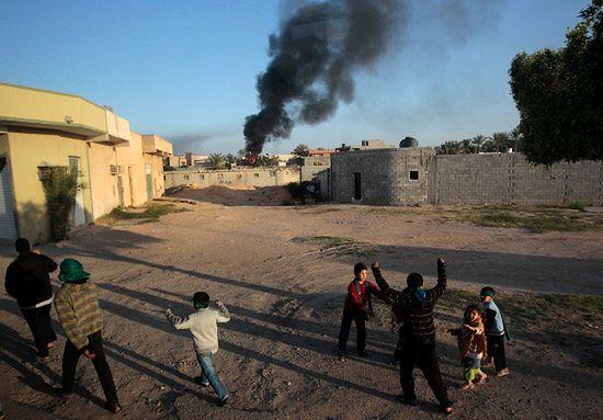 Kadafi atakuje Misratę - giną cywile