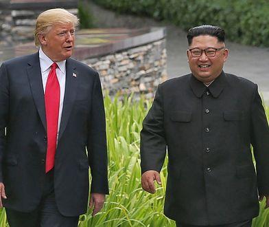 Donald Trump spotkał się z KIm Dzong Unem