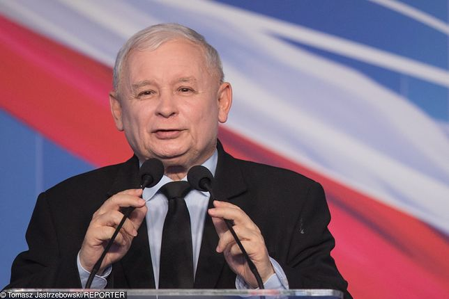Wybory parlamentarne. Prezes PiS Jarosław Kaczyński.