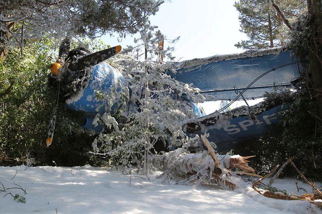 Samolot AN-2 rozbił się w Olsztynie