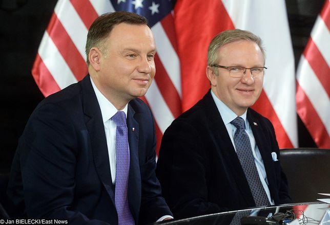 Prezydent Andrzej Duda i szef jego kancelarii Krzysztof Szczerski