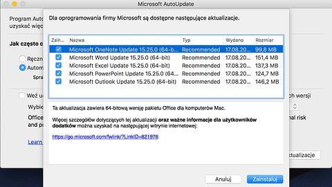Microsoft wydał 64-bitowego Office dla Mac, jest szybciej ale wciąż z niedoróbkami