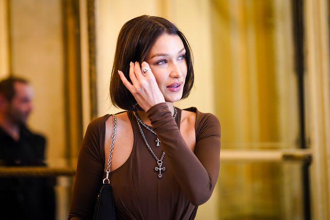 Stylowa Bella Hadid. Modelka zaprezentowała się w najmodniejszym płaszczu i butach