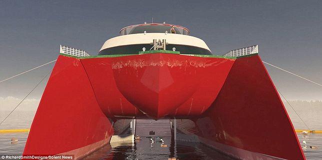 Jacht będzie mieć pokaźne 70 metrów długości