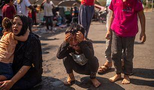 Lesbos. Dramatyczna sytuacja po spłonięciu obozu dla uchodźców Moria