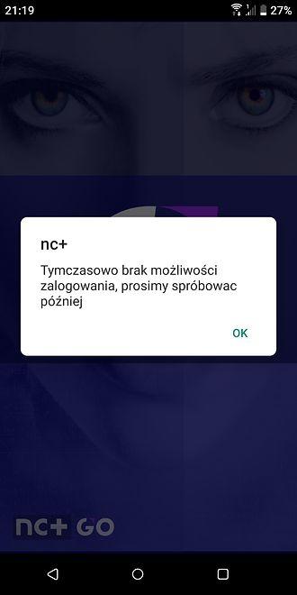 nc+ GO nie działa przez przeciążenie serwerów