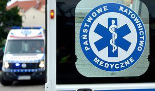 Po wypadku dziecko przewieziono do szpitala w Legnicy