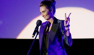 LOOK OF THE DAY: Dominika Kulczyk w plecionej spódnicy Magdy Butrym