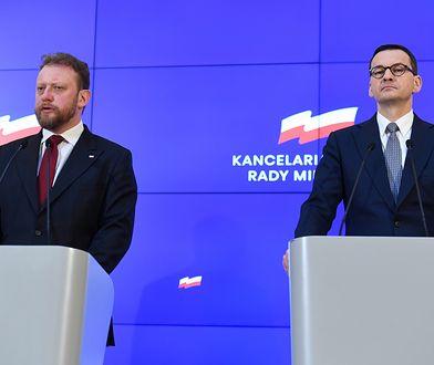 Koronawirus w Polsce. Łukasz Szumowski i Mateusz Morawiecki