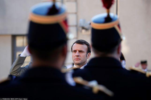 Emmanuel Macron przed przemówieniem - 7.02.2020 r.