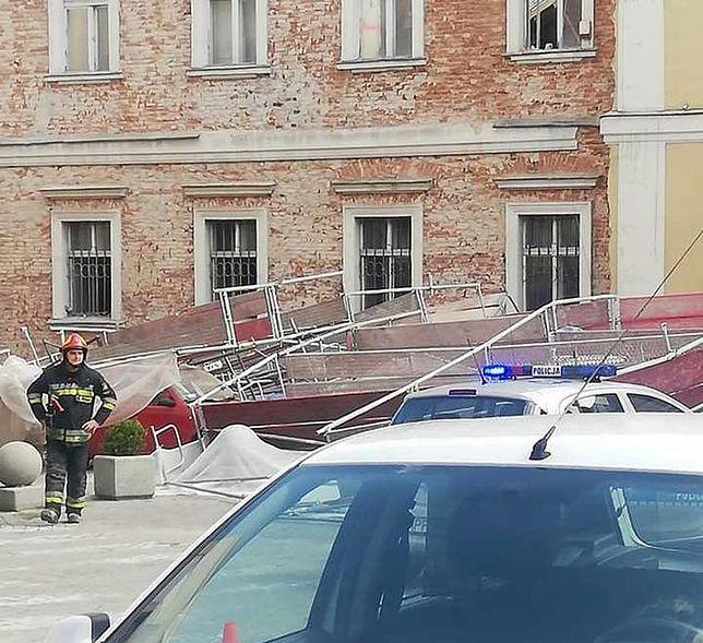 Wodzisław Śląski. Groźny wypadek podczas prac budowlanych