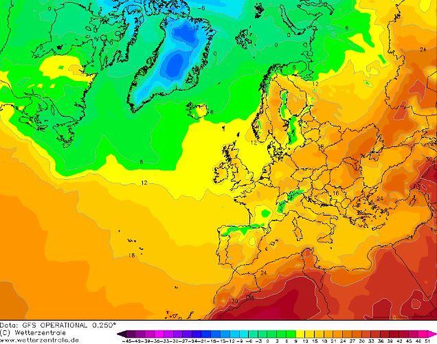 Prognoza pogody dla Europy - piątek 17 maja.