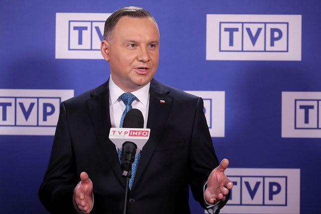 Andrzej Duda otrzymał w marcu najwięcej czasu antenowego w TVP.