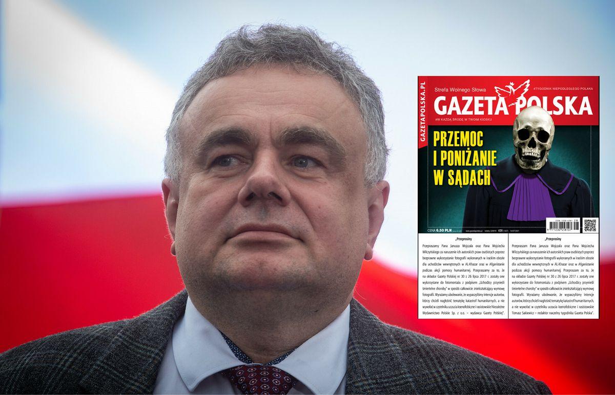 """Tomasz Sakiewicz, redaktor naczelny """"Gazety Polskiej"""" oraz okładka nr 28 tygodnika"""
