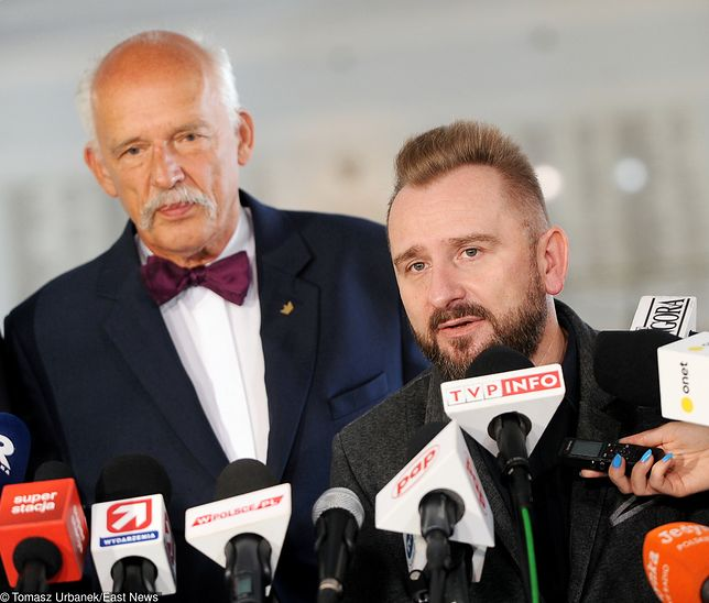 Janusz Korwin-Mikke i Piotr Liroy-Marzec.