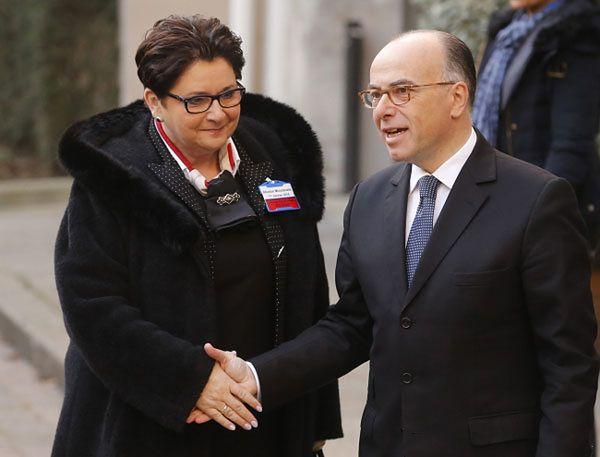 Teresa Piotrowska i Bernard Cazeneuve