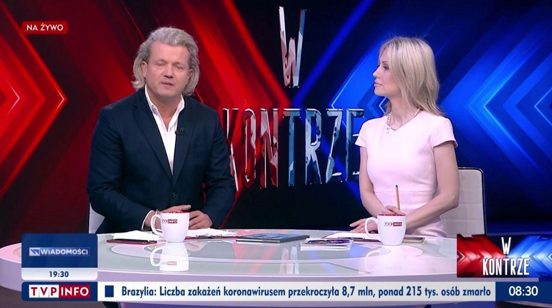 """Jarosław Jakimowicz i Magdalena Ogórek na antenie programu """"W kontrze"""""""