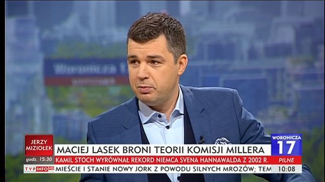Michał Rachoń w TVP Info próbował połączyć wypadek wojskowego MIG-a z katastrofą smoleńską.