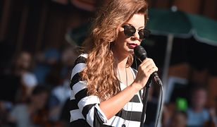 Edyta Górniak podczas prób do koncertu na festiwalu w Opolu
