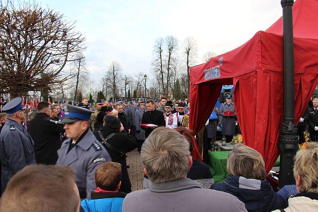 Mariusz Błaszczak na uroczystościach pogrzebowych