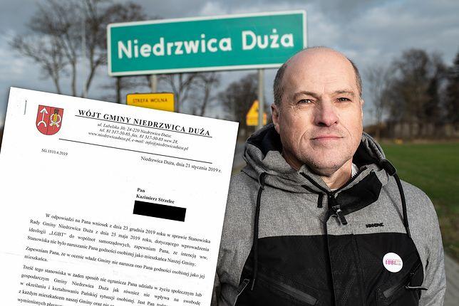 """Pan Kazimierz mieszka w Niedrzwicy Dużej. Wysłał pismo do wójta ws. """"strefy wolnej od LGBT"""""""