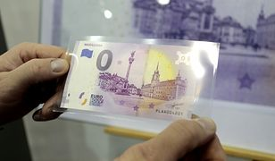 Ceny banknotów 0 euro na rynku wtórnym sięgają już nawet 1000 złotych