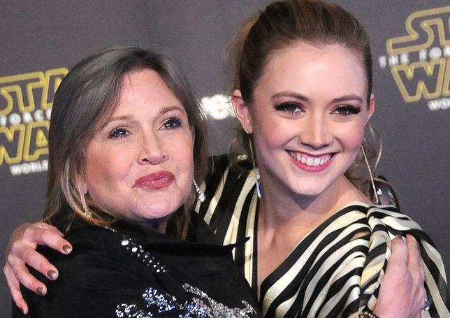 """Carrie Fisher i Billie Lourd na premierze """"Przebudzenia Mocy"""", grudzień 2015 r."""