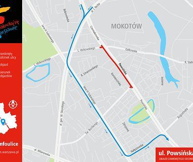 Mapa objazdu