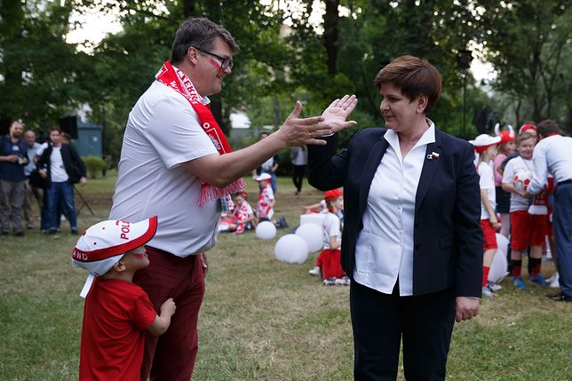 Maciej Wąsik w towarzystwie Beaty Szydło