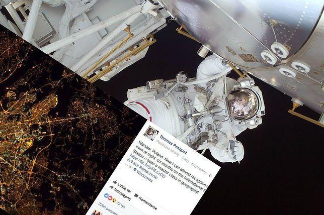 To zdjęcie robi wrażenie. Zobacz, jak wygląda Warszawa w obiektywie francuskiego astronauty!