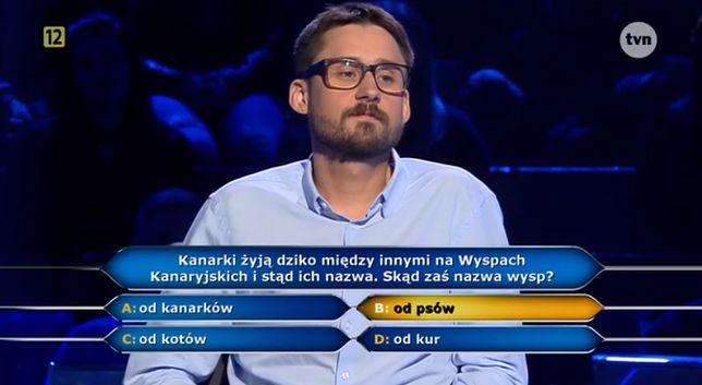 """Uczestnik """"Milionerów"""" zaprosił Huberta na wesele. O mały włos skończyłby z 1 tys. zł"""