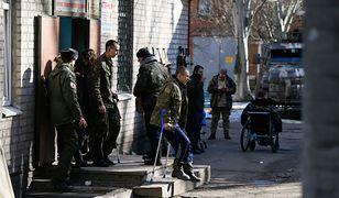 Ukraińscy żołnierze w szpitalu w Bachmucie koło Doniecka