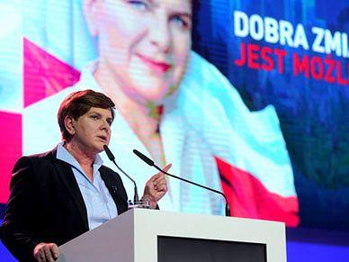 Wpadka Beaty Szydło podczas przemówienia