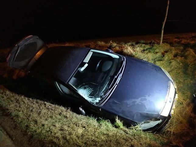 Podkarpacie. Pijany kierowca potrącił kobietę i uciekł. Skończył w rowie