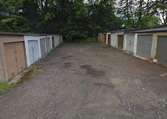 Garaże przy ulicy Łokietka w Rybniku
