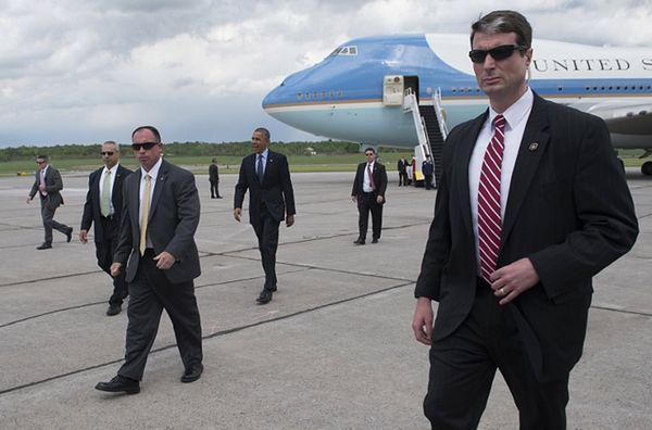 Barack Obama i agenci Secret Service