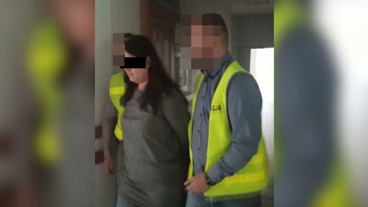 Policja zatrzymała kobietę w miejscu pracy.